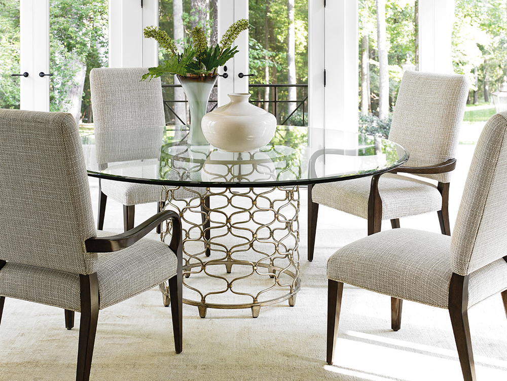 Lexington – Laurel Canyon Bollinger Round Dining Table With 72 Inch Glass Top – 01 0721 875 72C Throughout Round Glass Top Dining Tables (View 10 of 26)