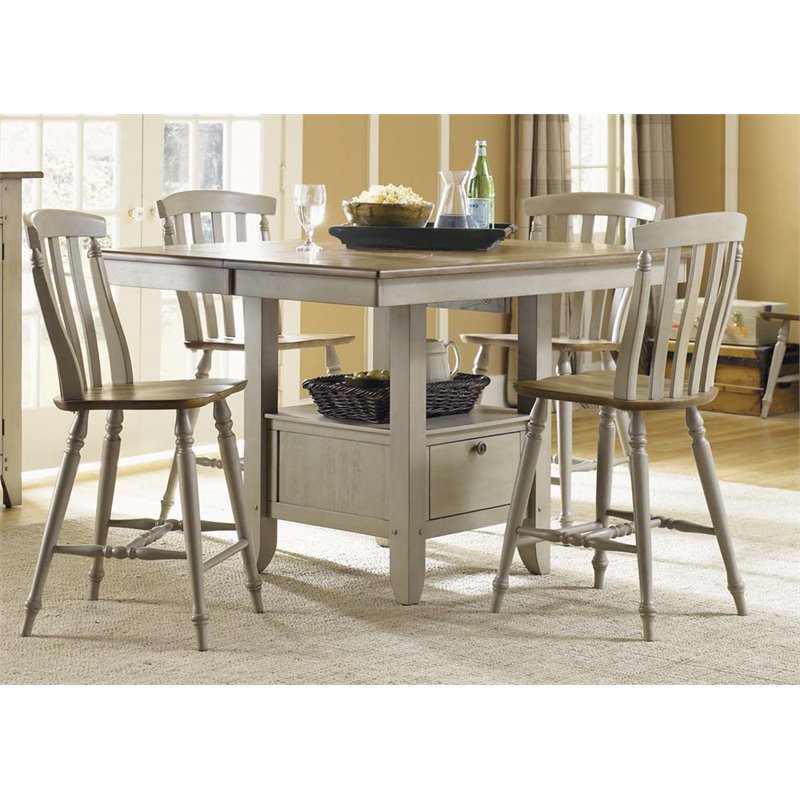 Liberty Furniture Al Fresco Counter Height Dining Table In Driftwood –  Walmart With Transitional Driftwood Casual Dining Tables (View 21 of 25)