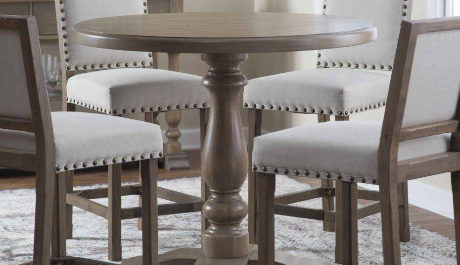 Likable Dining Room Furniture Distressed White Oval Table With Thick White Marble Slab Dining Tables With Weathered Grey Finish (View 18 of 25)
