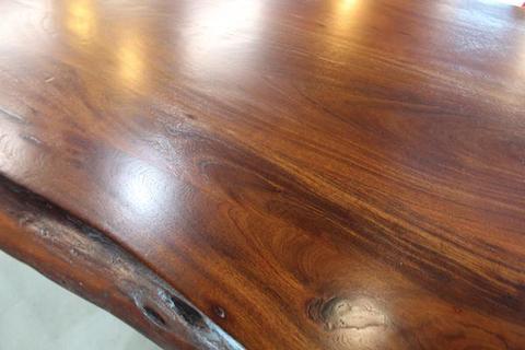 Live Edge Acacia Dining Table With Black X Legs/honey Walnut – Woodify Regarding Acacia Dining Tables With Black X Leg (Image 20 of 25)