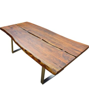 Live Edge Acacia Wood & Iron Rustic Large Dining Table – Buy Live Edge Acacia Wood & Iron Rustic Large Dining Table,live Edge Acacia Wood Slab Dining For Acacia Wood Top Dining Tables With Iron Legs On Raw Metal (View 9 of 25)