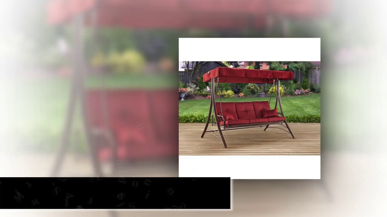 Long Bay 3 Person Canopy Swing – Product Review Video Pertaining To 2 Person Adjustable Tilt Canopy Patio Loveseat Porch Swings (View 22 of 25)
