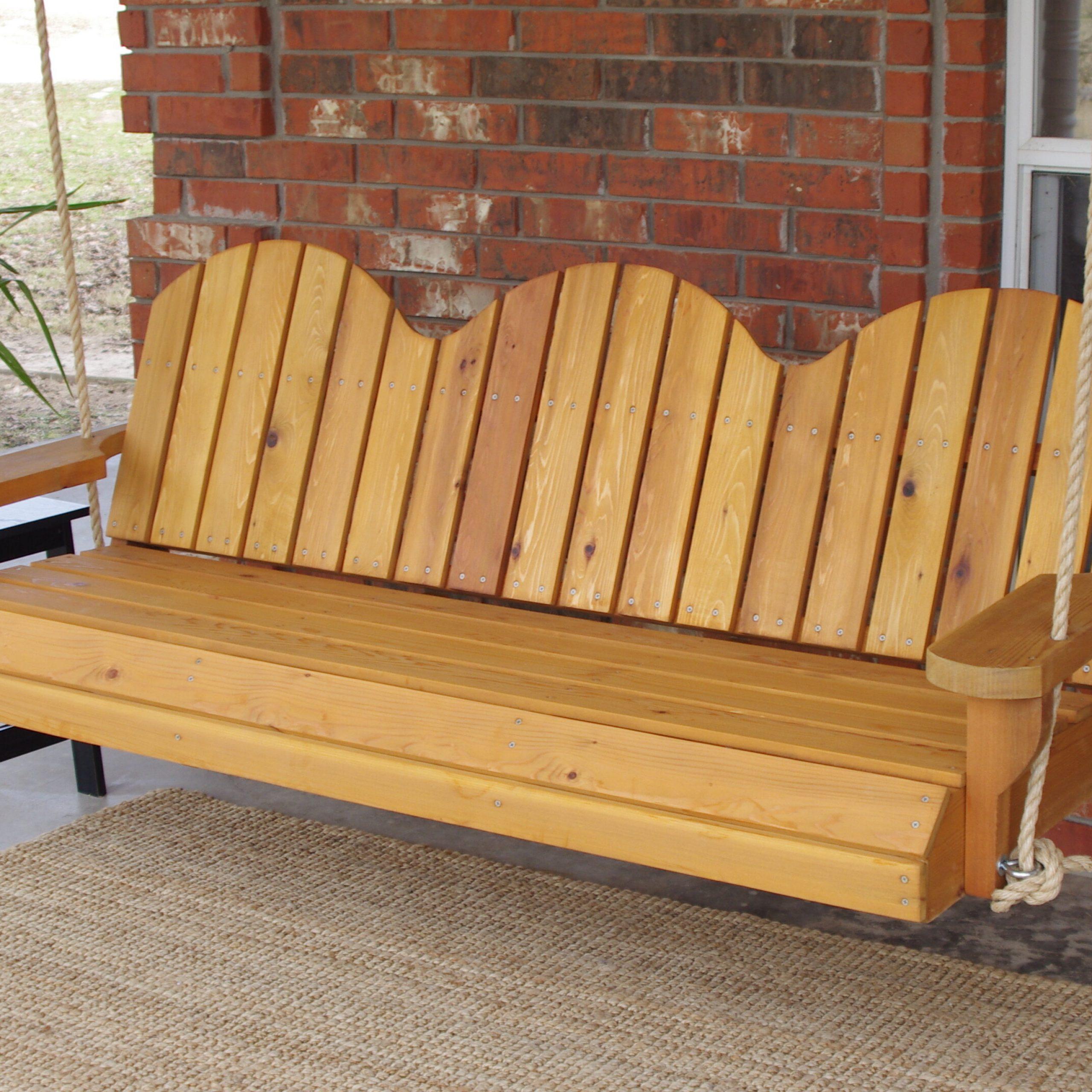 Loon Peak Browder Porch Swing | Wayfair For 5 Ft Cedar Swings With Springs (View 25 of 25)