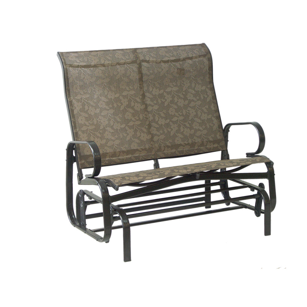 Lotus Double Steel Glider – Dura Housewares In Outdoor Fabric Glider Benches (View 10 of 25)