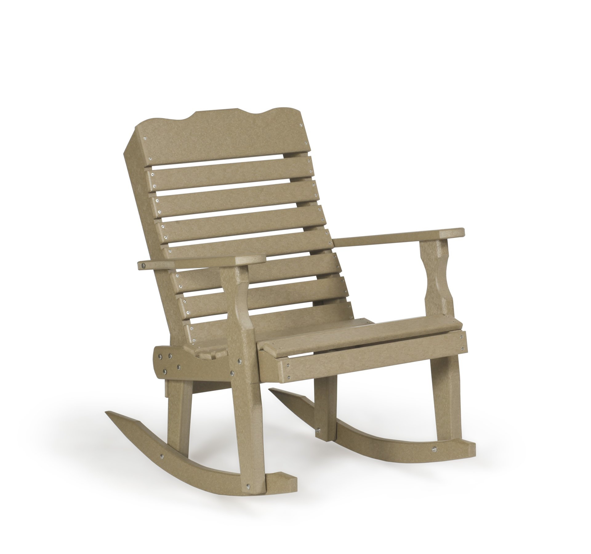 Lounge Furniture Collection Curve Back Rocker – Adirondack Throughout Cedar Colonial Style Glider Benches (View 25 of 25)