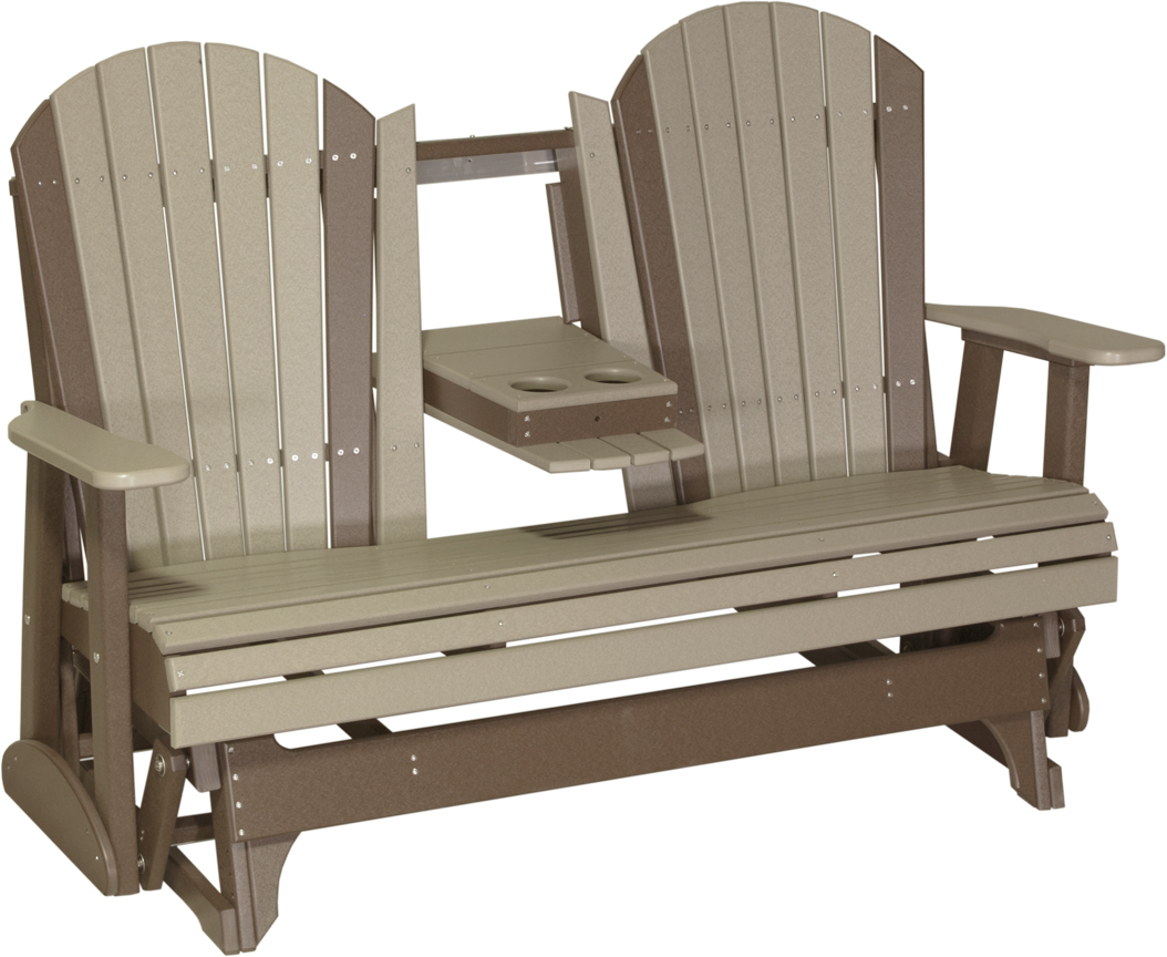 Luxcraft 5' Adirondack Glider – Amish Yard Intended For Classic Adirondack Glider Benches (View 5 of 25)