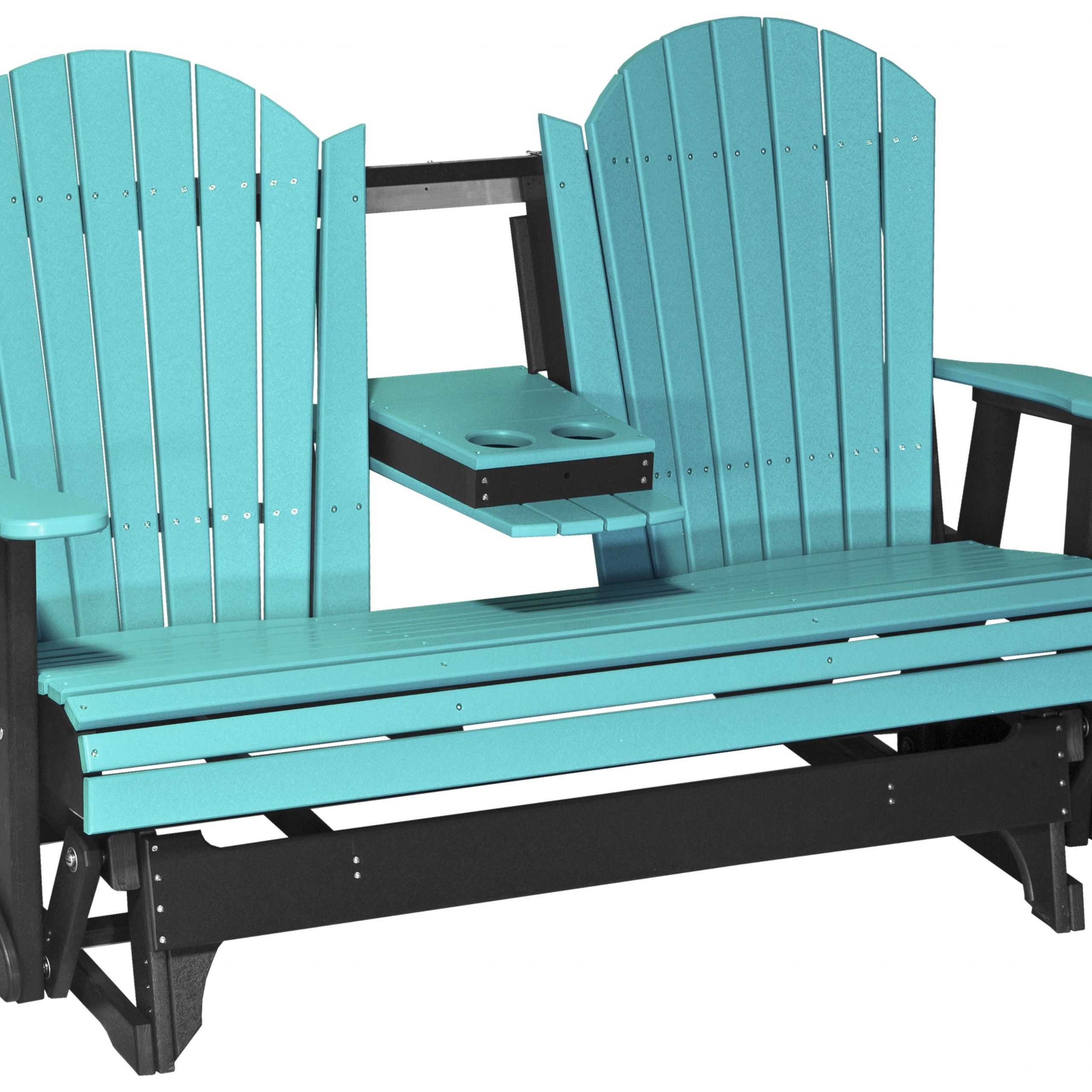 Luxcraft Recycled Plastic 5' Adirondack Glider Loveseat Inside Classic Adirondack Glider Benches (View 3 of 25)