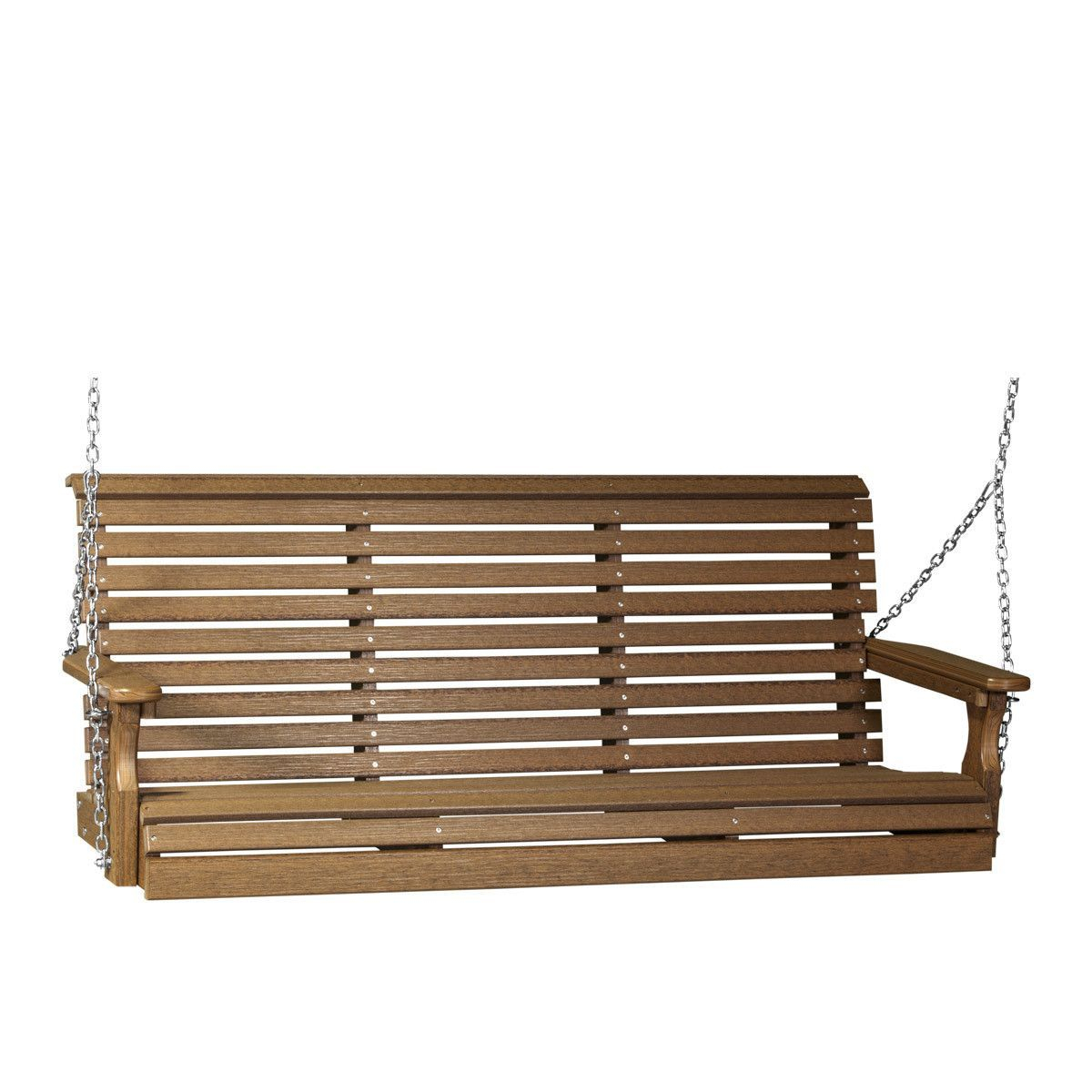 Luxcraft Rollback 5Ft Recycled Plastic Plain Porch Swing With Regard To Plain Porch Swings (View 2 of 25)