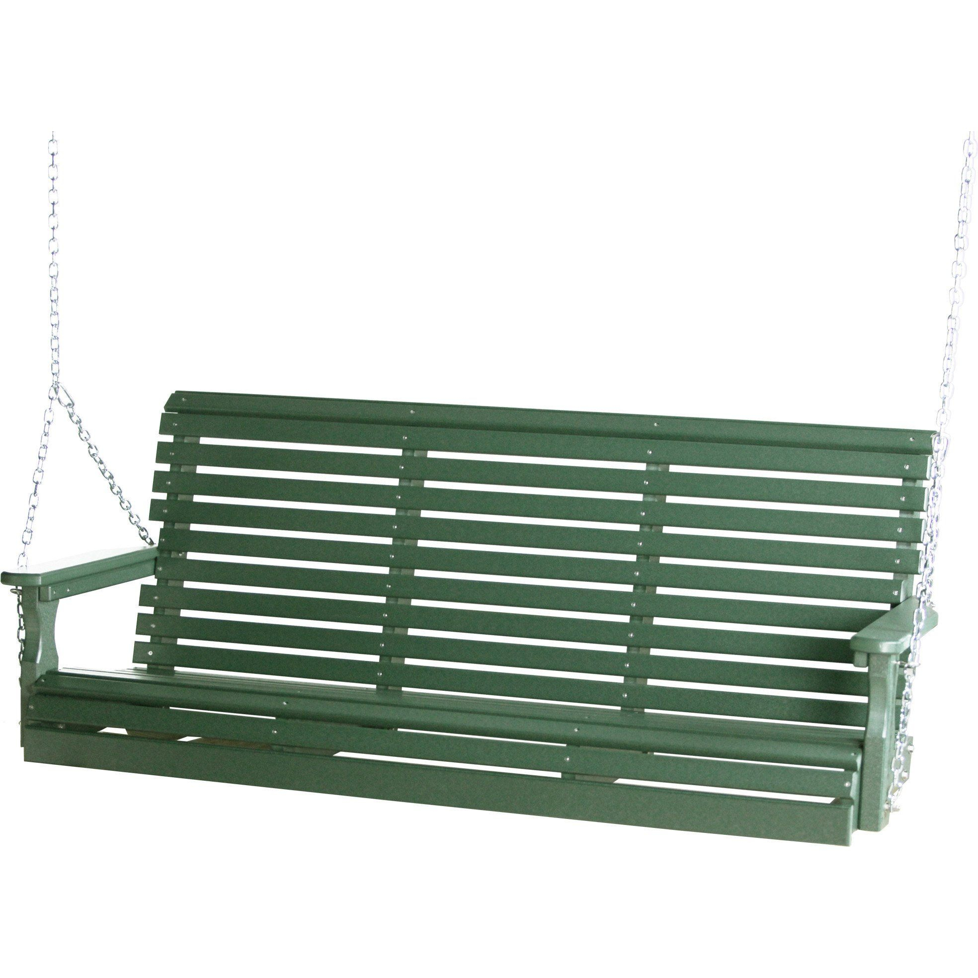 Luxcraft Rollback 5Ft Recycled Plastic Plain Porch Swing Within Plain Porch Swings (View 6 of 25)
