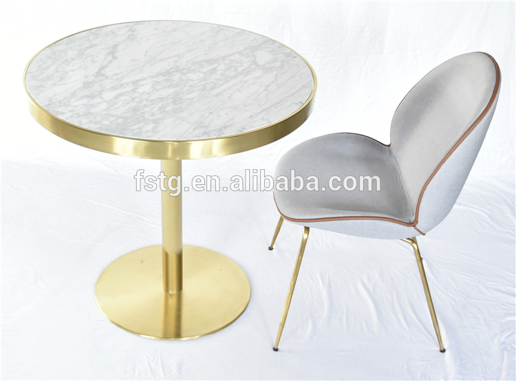 Luxury Restaurant Tables White Cararra Marble Top Brushed Brass Gold  Stainless Steel Dining Table – Buy Marble Dining Table,brass Stainless  Steel Regarding Dining Tables With Brushed Gold Stainless Finish (Image 19 of 25)