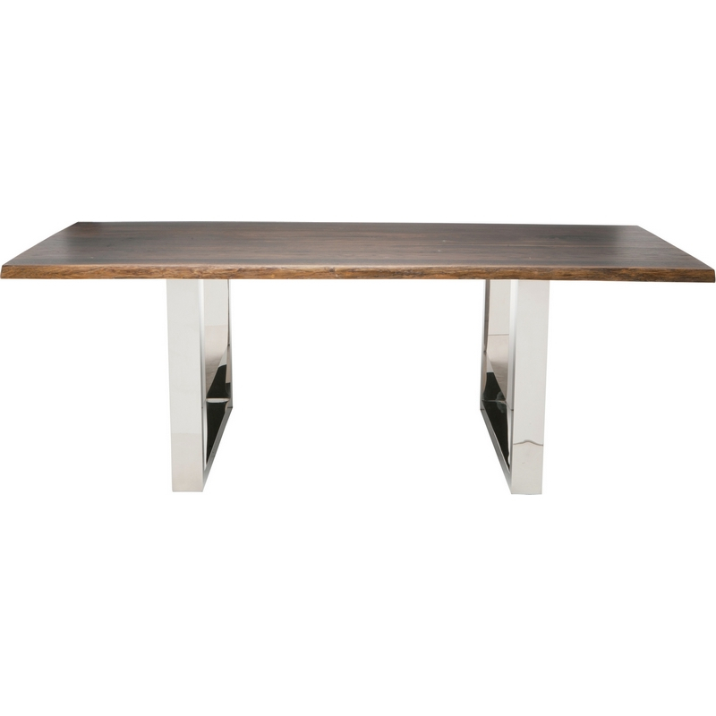 "Lyon 75"" Dining Table In Seared Oaknuevo Modern Furniture Throughout Dining Tables In Seared Oak (Image 10 of 25)"