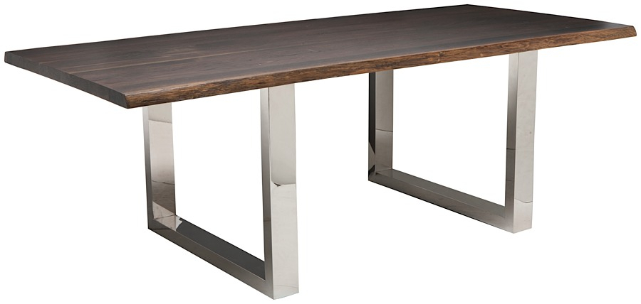 Lyon Dining Table 78 Inch | Seared Oak | Modern Digs Furniture Inside Dining Tables In Seared Oak (Image 11 of 25)