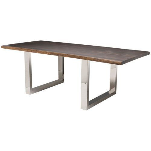 Lyon Seared 96 Inch Dining Table | Products | Dining Table Regarding Dining Tables In Smoked/seared Oak (Image 13 of 26)