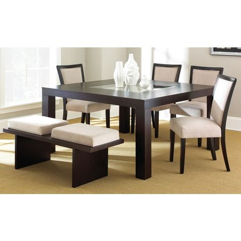 Madera Espresso Dining Set – Overstock™ Shopping – Big Throughout Espresso Finish Wood Classic Design Dining Tables (Image 14 of 25)