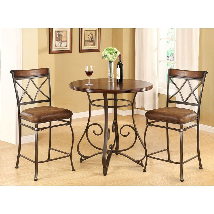 Madrid 3 Piece Dining Set | 3 Piece Dining Set, Dining Room Intended For 3 Pieces Dining Tables And Chair Set (View 19 of 25)