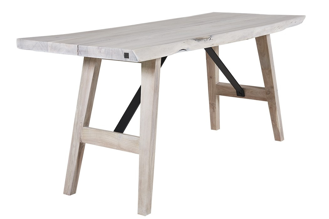 Magnus Dining Table – Season's Latest – Marina Home Interiors Pertaining To Acacia Wood Top Dining Tables With Iron Legs On Raw Metal (Image 19 of 25)