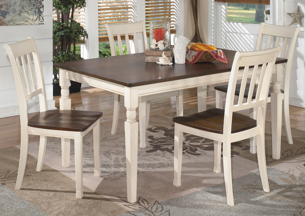 Majek Furniture Whitesburg Rectangular Dining Table W/ 4 With Rectangular Dining Tables (View 19 of 25)