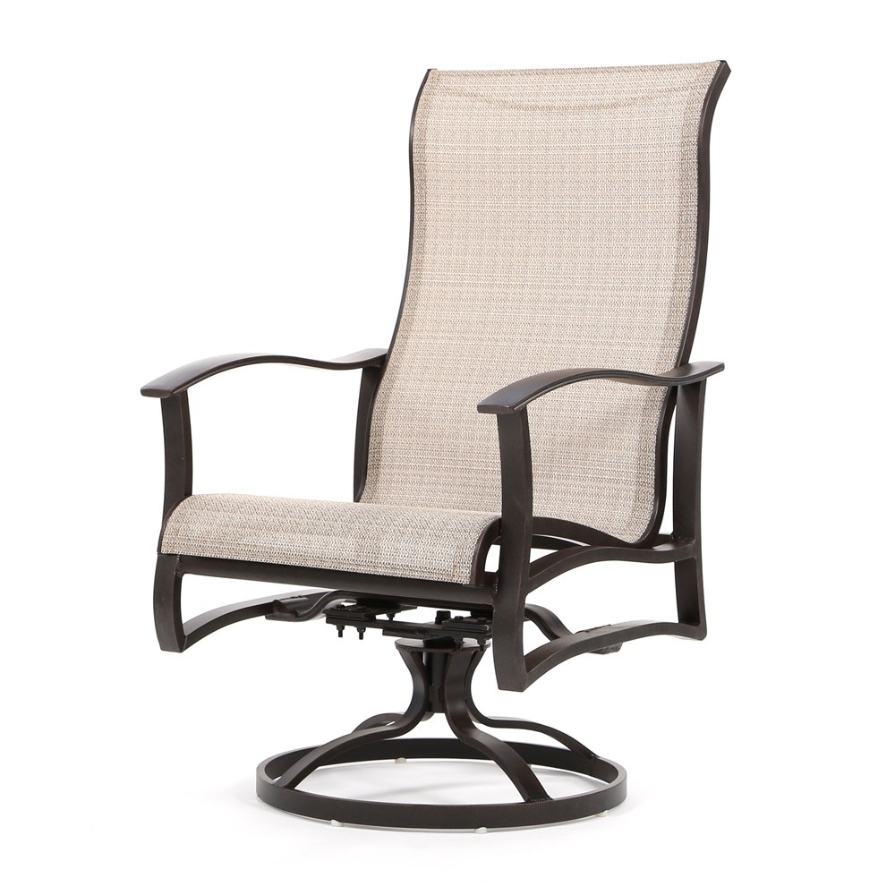 Mallin Albany Sling High Back Swivel Rocker Dining Chair Regarding Sling High Back Swivel Chairs (View 2 of 25)
