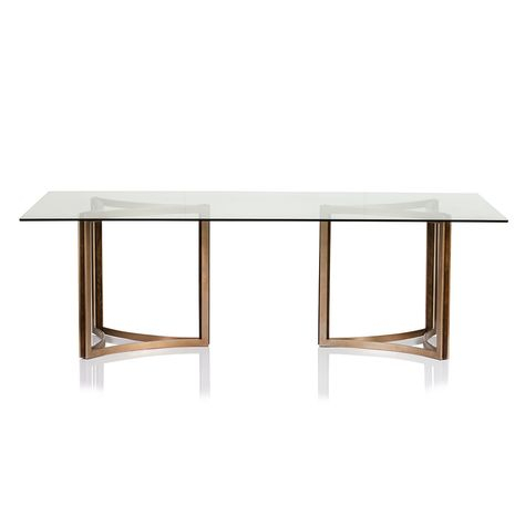 Manhattan Glass Top Dining Table   Glass Top Dining Table Inside Fumed Oak Dining Tables (View 17 of 25)