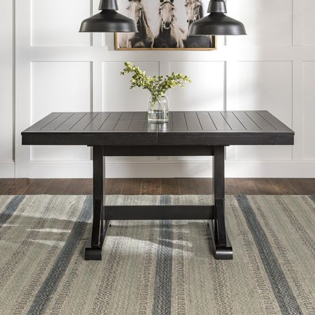 Manor Park Antique Black Wood Kitchen Dining Table | Walmart In Antique Black Wood Kitchen Dining Tables (View 21 of 25)