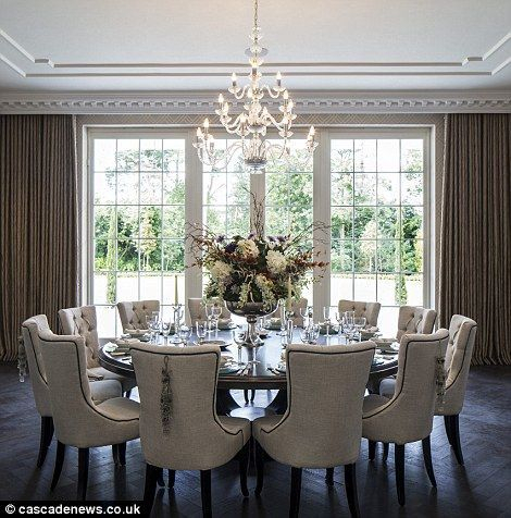 Mansion With Cinema, Pool And 1,700 Bottle Cellar On Sale Pertaining To Elegance Large Round Dining Tables (Image 18 of 25)