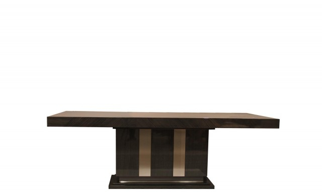 Marbella – 180Cm Rectangle Fixed Table In Fumed Oak High Gloss Finish Within Fumed Oak Dining Tables (View 5 of 25)