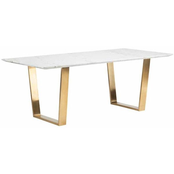 Featured Image of Dining Tables With Brushed Gold Stainless Finish