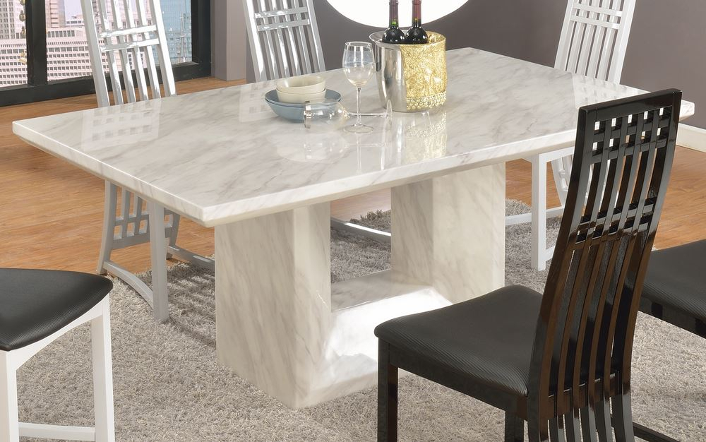 Marble Top Dining Table White : Gearon Hoffman Home – Very Intended For Dining Tables With White Marble Top (Image 13 of 25)