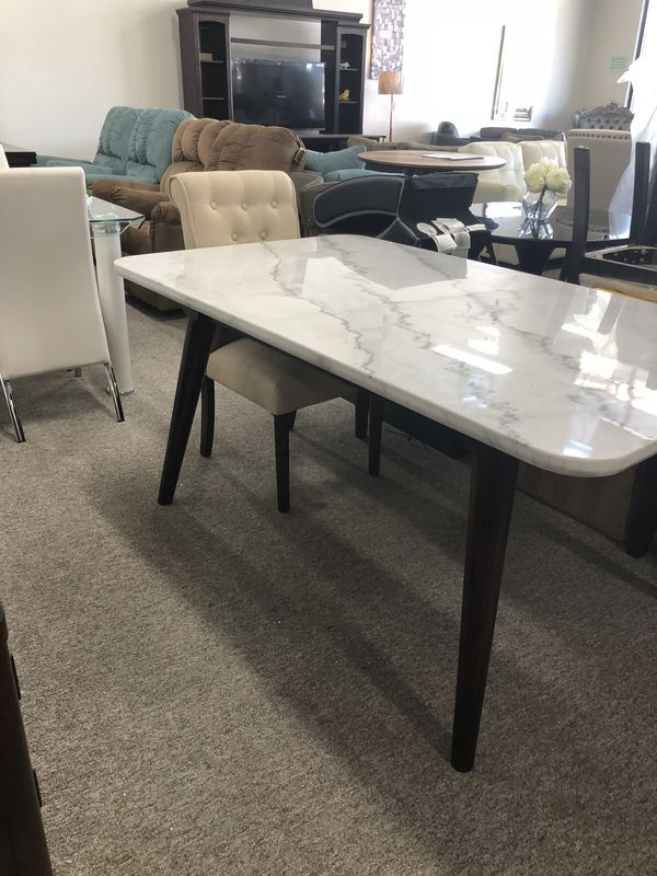 Marble Top White Dining Table Pay $40 Down And Take It Home With Regard To Dining Tables With White Marble Top (Image 14 of 25)