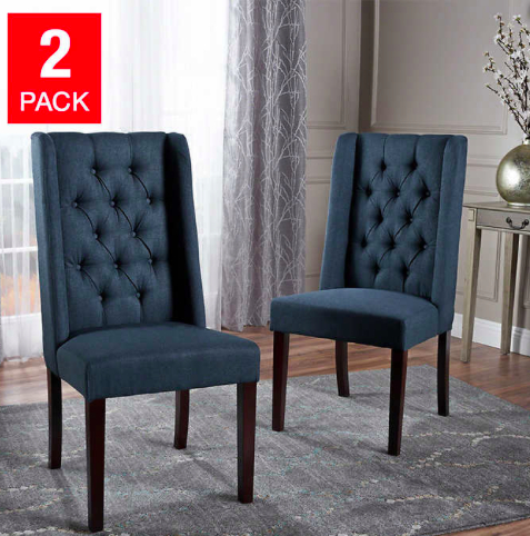 Mariel Dining Chair 2 Pack | Fabric Dining Chairs, High Back Intended For Artefac Contemporary Casual Dining Tables (Image 18 of 25)