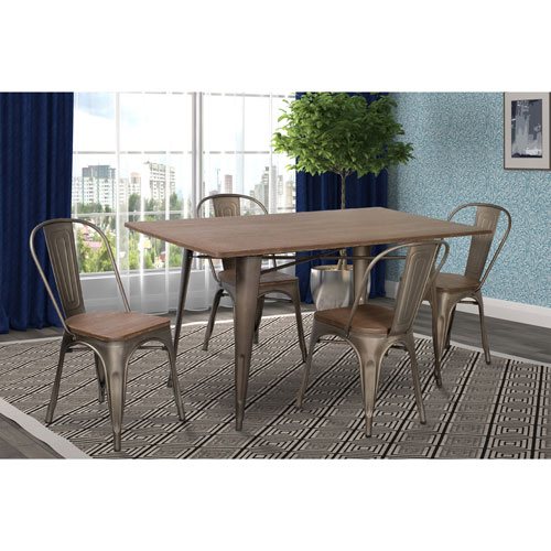 Marlow Traditional 4 Seating Rectangular Casual Dining Table – Dark Oak Throughout Atwood Transitional Square Dining Tables (View 25 of 25)