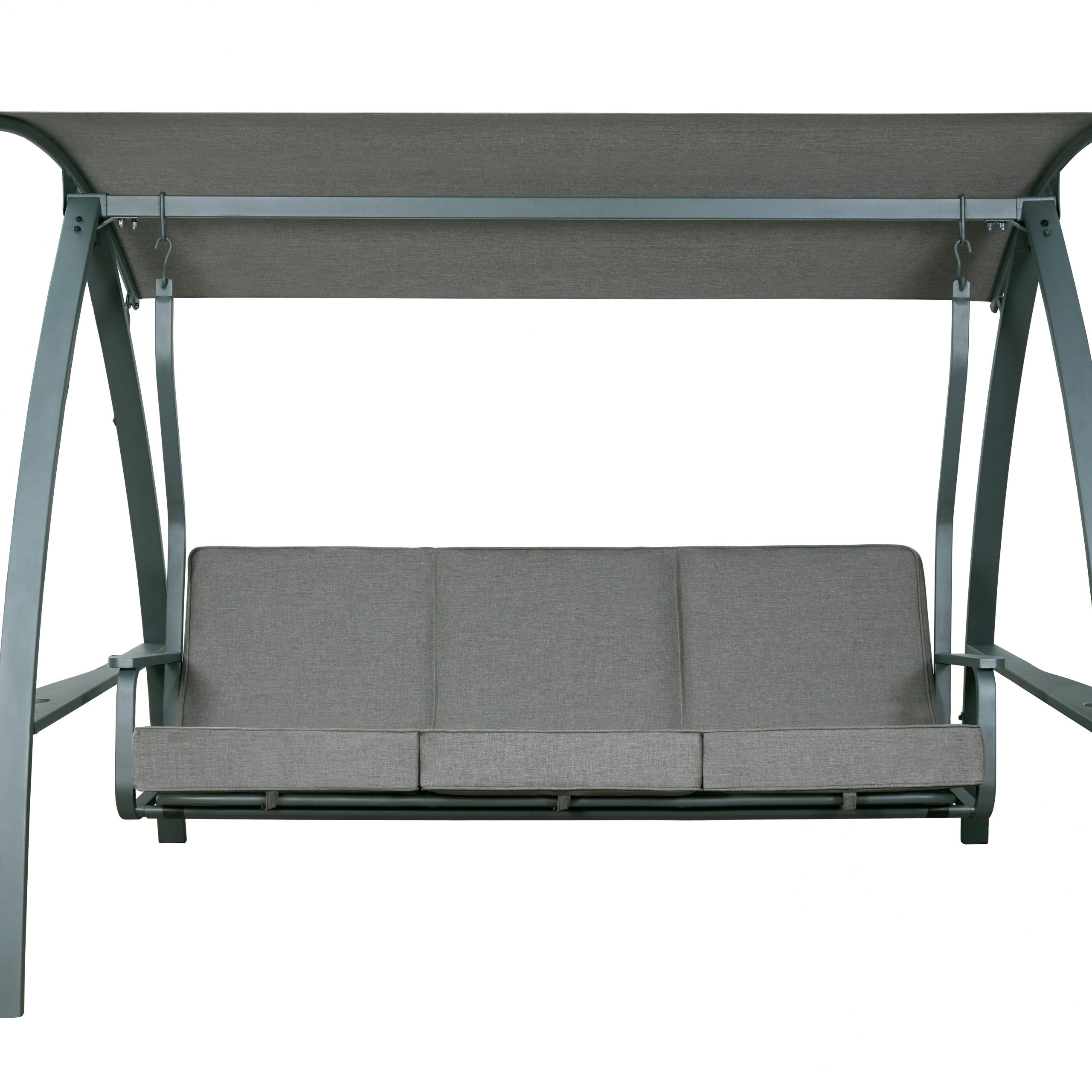 Marquette 3 Seat Daybed Porch Swing With Stand Regarding Daybed Porch Swings With Stand (View 6 of 25)