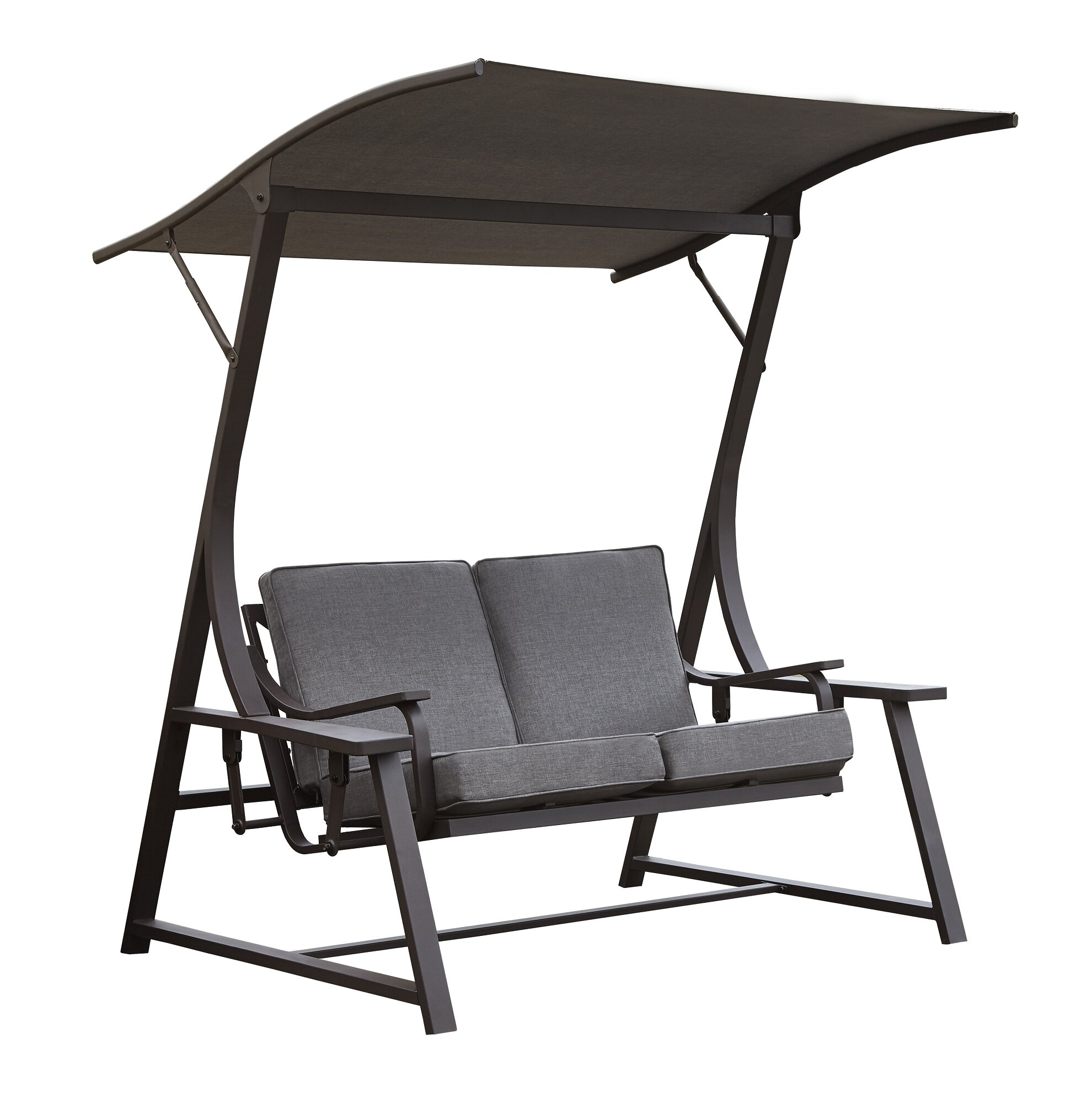 Marquette Glider Porch Swing With Stand For Outdoor Swing Glider Chairs With Powder Coated Steel Frame (View 23 of 25)