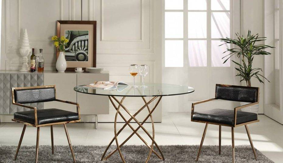 Marvellous Glass Round Dining Table Set Chairs And For Black Within Elegance Small Round Dining Tables (View 11 of 25)