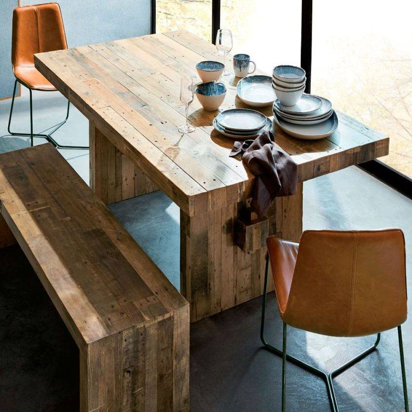 Marvelous Reclaimed Wood Dining Table Pine Eat Piece Set Throughout Small Round Dining Tables With Reclaimed Wood (View 16 of 25)