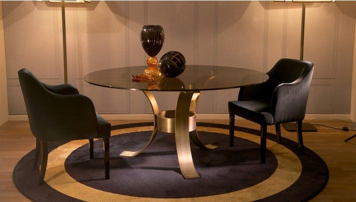 Massimo Glass Top Dining Table | Glass Top Dining Table Within Dom Round Dining Tables (Image 20 of 25)