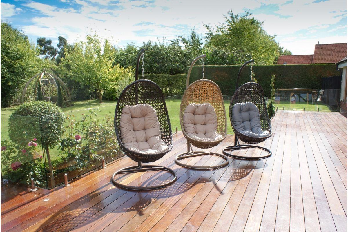 Maze Rattan – Malibu Hanging Chair Inside Rattan Garden Swing Chairs (View 24 of 25)