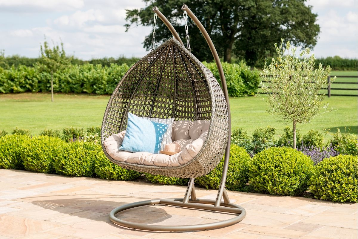Maze Rattan – Rose Hanging Chair – Tuscany With Regard To Rattan Garden Swing Chairs (View 13 of 25)