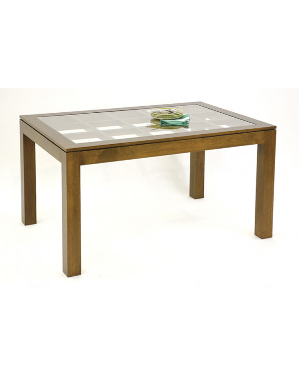 Medium Sized Dining Table With Glass Top On An Elegant Lattice Inside Medium Elegant Dining Tables (View 8 of 25)