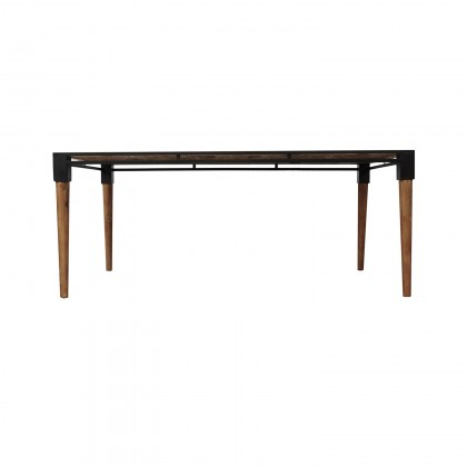 Medley Dining Table  Medium | Cdi Furniture With Acacia Wood Medley Medium Dining Tables With Metal Base (Image 19 of 25)