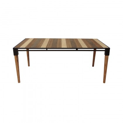 Featured Image of Acacia Wood Medley Medium Dining Tables With Metal Base