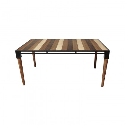 Medley Dining Table  Small | Cdi Furniture Inside Acacia Wood Medley Medium Dining Tables With Metal Base (Image 21 of 25)