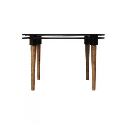 Medley Round Dining Table | Cdi Furniture Within Acacia Wood Medley Medium Dining Tables With Metal Base (Image 23 of 25)