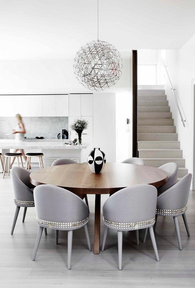 Melbourne 60 Inch Round Candle Dining Room Contemporary With Pertaining To 4 Seater Round Wooden Dining Tables With Chrome Legs (View 20 of 25)