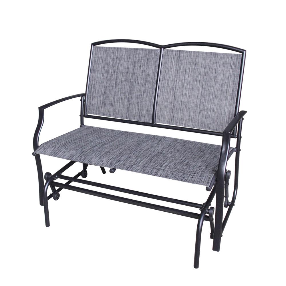 Melbourne Double Glider Steel Zinc Coated – Dura Housewares Regarding Metal Powder Coat Double Seat Glider Benches (View 16 of 25)
