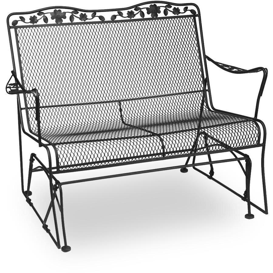 Metal Porch Glider With Cushions Within Outdoor Loveseat Gliders With Cushion (View 7 of 25)
