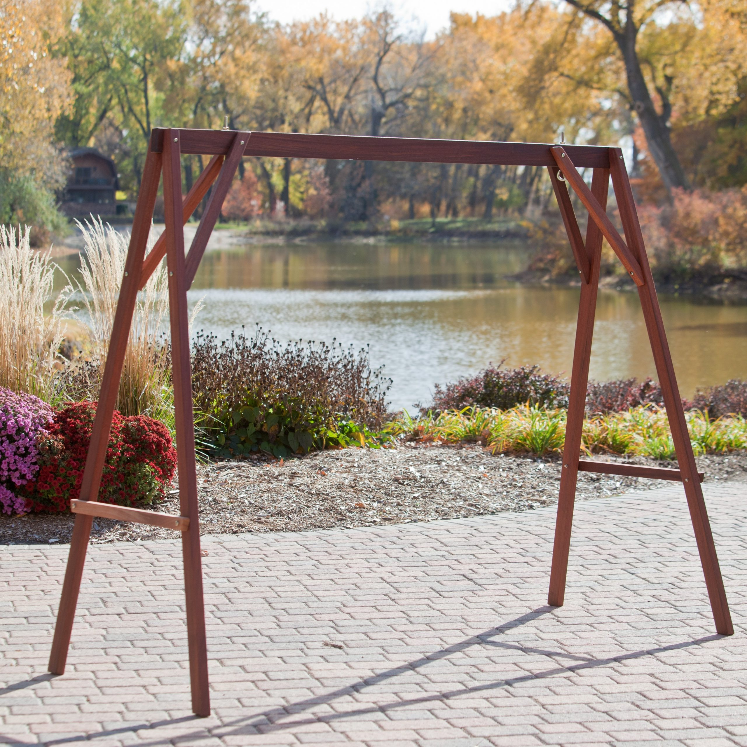 Metal Porch Swings With Stands Throughout Patio Porch Swings With Stand (View 11 of 25)
