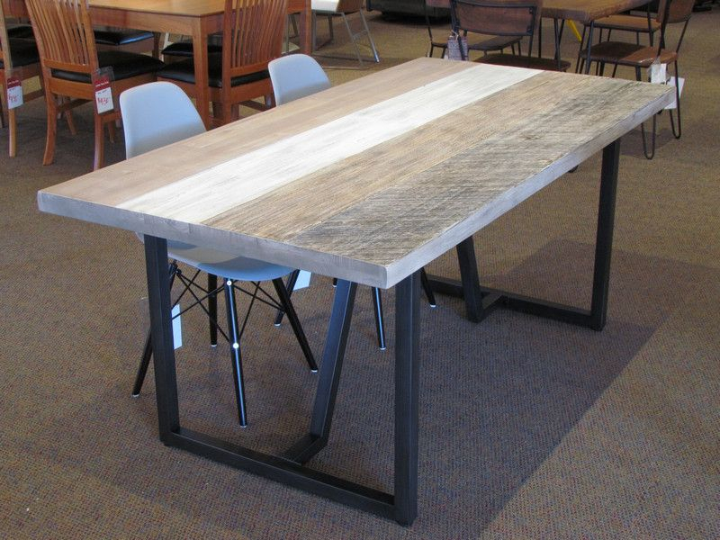 Featured Image of Acacia Wood Dining Tables With Sheet Metal Base