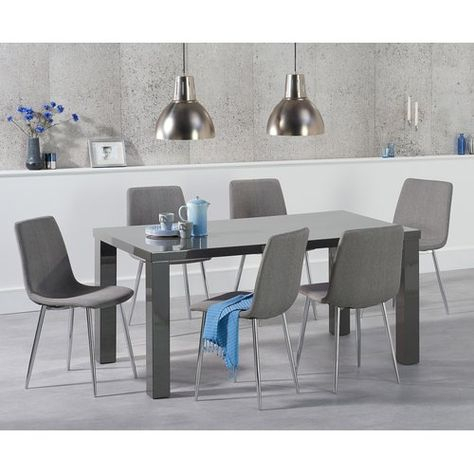 Metro Lane Petegem Dining Set With 8 Chairs In 2019 | Wood In Transitional 8 Seating Rectangular Helsinki Dining Tables (View 2 of 25)