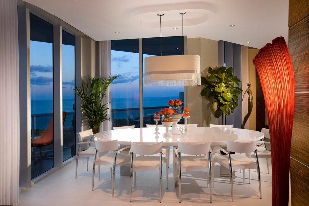 Miami Dining Table For Small Apartment Dining Room Modern With Glass Top Condo Dining Tables (View 16 of 25)